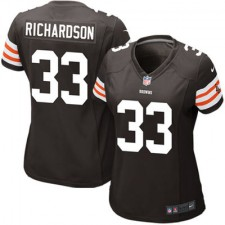 Women's Cleveland Browns Historic Logo Trent Richardson Nike Brown Game Jersey