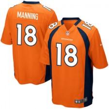 Herren Denver Broncos Peyton Manning Nike Orange Team Spiel Günstig Trikot