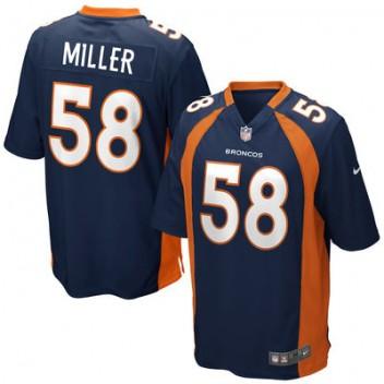 Herren Denver Broncos Von Miller Nike Navy Blau Alternate Spiel Günstig Trikot
