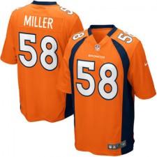 Herren Denver Broncos Von Miller Nike Orange Spiel Günstig Trikot