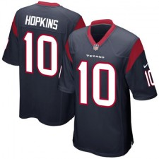 Mens Houston Texans DeAndre Hopkins Nike Navy Blue Game Jersey