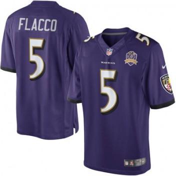 Herren Baltimore Ravens Joe Flacco Nike lila Limited Günstig Trikot