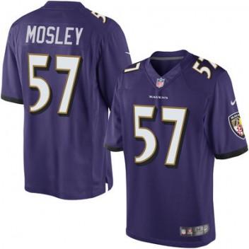 Herren Baltimore Ravens C.J. Mosley Nike lila Limited Günstig Trikot