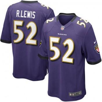 Herren Baltimore Ravens Ray Lewis Nike lila Spiel Günstig Trikot