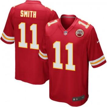 Herren Kansas City Chiefs Alex Smith Nike Rot Spiel Günstig Trikot