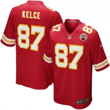Men's Kansas City Chiefs Travis Kelce Nike Red Team Game Jersey