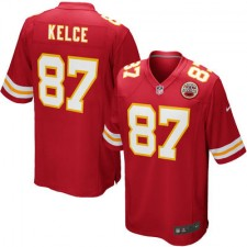 Youth Kansas City Chiefs Travis Kelce Nike Red Team Color Game Jersey