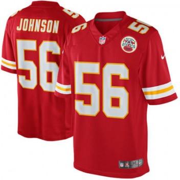 Herren Kansas City Chiefs Derrick Johnson Nike Rot Team Farbe Limited Günstig Trikot