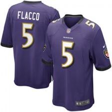 Youth Baltimore Ravens Joe Flacco Nike Purple Team Color Game Jersey