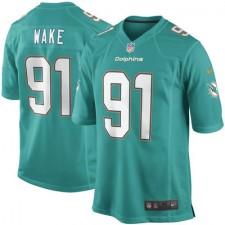 Mens Miami Dolphins Cameron Wake Nike Aqua Game Jersey