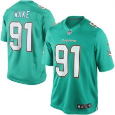 Men's Miami Dolphins Cameron Wake Nike Aqua Team Color Limited Jersey