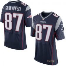 Herren New England Patriots Rob Gronkowski Nike Navy Blau Elite Günstig Trikot