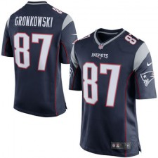 Men's New England Patriots Rob Gronkowski Nike Navy Blue/Silver Game Jersey