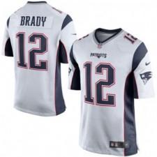 Herren New England Patriots Tom Brady Nike Weiß/Navy Blau Spiel Günstig Trikot