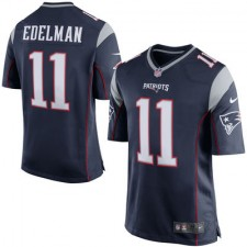 Men's New England Patriots Julian Edelman Nike Navy Blue Game Jersey