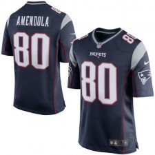 Men's New England Patriots Danny Amendola Nike Navy Blue/Silver Game Jersey