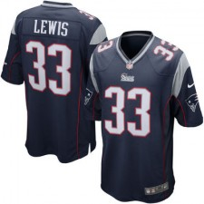Men's New England Patriots Dion Lewis Nike Navy Game Jersey