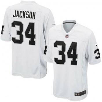 save off 92fa9 c92e0 Herren Oakland Raiders Bo Jackson Nike Weiß Retired Spieler ...