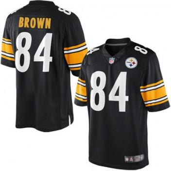 info for cd72b fae68 Herren Pittsburgh Steelers Antonio Brown Nike Schwarz Team ...