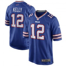 Mens Buffalo Bills Jim Kelly Nike Royal Blue Retired Player Game Jersey