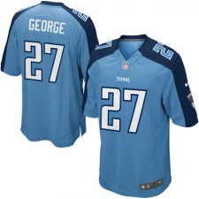 Nike Eddie George Tennessee Titans Youth Retired Game Jersey - Light Blue