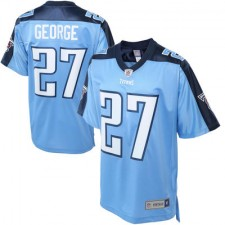 Mens Tennessee Titans Eddie George Pro Line Blue Retired Player Jersey