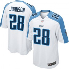 Nike Chris Johnson Tennessee Titans Youth Game Jersey - White