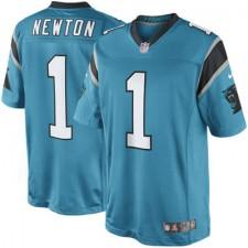Men's Carolina Panthers Cam Newton Nike Panther Blue Limited Jersey