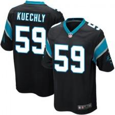 Mens Carolina Panthers Luke Kuechly Nike Black Team Game Jersey