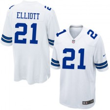 Men's Dallas Cowboys Ezekiel Elliott Nike White 2016 Draft Pick Game Jersey