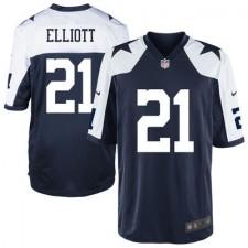 Youth Dallas Cowboys Ezekiel Elliott Nike Navy 2016 Draft Pick Alternate Game Jersey