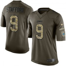 Men's Detroit Lions Matthew Stafford Nike Green Salute To Service Limited Jersey