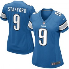 Girls Youth Detroit Lions Matthew Stafford Nike Light Blue Game Jersey