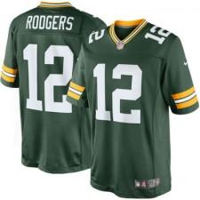 Herren Grün Bay Packers Aaron Rodgers Nike Grün Team Farbe Limited Günstig Trikot