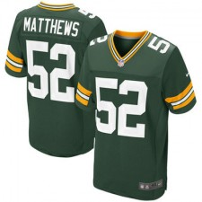 Mens Green Bay Packers Clay Matthews Nike Green Elite Jersey