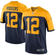 Men's Green Bay Packers Aaron Rodgers Nike Navy Alternate Game Jersey