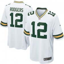 Mens Green Bay Packers Aaron Rodgers Nike White Game Jersey