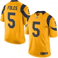 Men's Los Angeles Rams Nick Foles Nike Gold Color Rush Limited Jersey