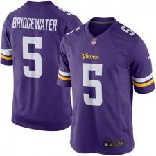 Mens Minnesota Vikings Teddy Bridgewater Nike Purple Limited Jersey