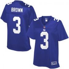 Pro Line Women's New York Giants Josh Brown Team Color Jersey