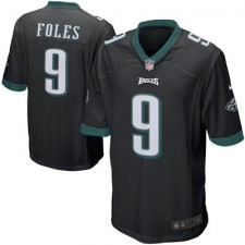 Mens Philadelphia Eagles Nick Foles Nike Black Alternate Game Jersey