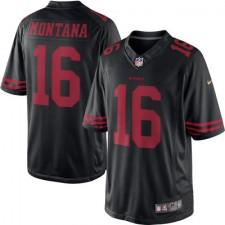 Men's San Francisco 49ers Joe Montana Nike Black Retired Player Limited Jersey