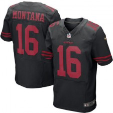 Men's San Francisco 49ers Joe Montana Nike Black Retired Player Elite Jersey