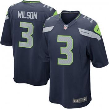 Herren Seattle Seahawks Russell Wilson Nike College Navy Spiel Günstig Trikot