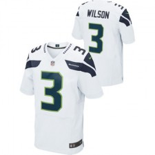 Men's Seattle Seahawks Russell Wilson Nike White Limited Jersey