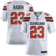 Men's Cleveland Browns Joe Haden Nike White Elite Jersey