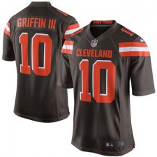 Men's Cleveland Browns Robert Griffin III Nike Brown Game Jersey