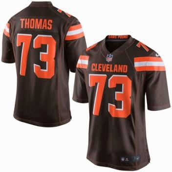 Herren Cleveland Browns Joe Thomas Nike Brown Spiel Günstig Trikot