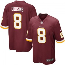 Mens Washington Redskins Kirk Cousins Nike Burgundy Game Jersey