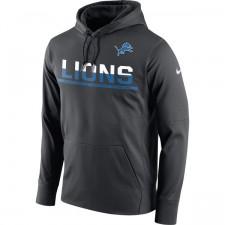 Herren Detroit Lions Nike Anthrazit Seitenlinie Schaltung Pullover Leistung Hoodie